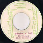 Babylon A Fall / Cripple Skank - King (Watty) Burnett / The Upsetters