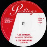 Contemplating / Be Thankful / Solid Foundation / Peckings Dub - Dolomite / Carolene Thompson / Tenna Star