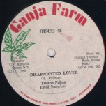 Disappointed Lover / Disappointed Dubber - Triston Palma and Errol Scorpion / Soul Syndicate