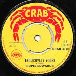 Big Thing / Exclusively Yours - Winston Blake Actually Lloyd Charmers / Rupie And The Virtues