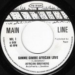 Gimme Gimme African Love / African Love Dub - The African Brothers