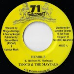 Humble / Respect All Woman - Toots And The Maytals / LMS