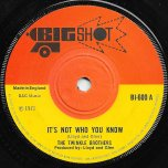 Its Not Who You Know / I Need Someone - Twinkle Brothers / The Ethiopians