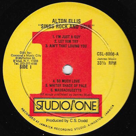 Alton Ellis Sings Rock And Soul