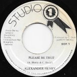 Please Be True / Ver - Alexander Henry / Sound Dimension