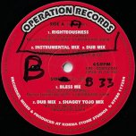 Righteousness / Inst Mix / Dub Mix / Bless Me / Dub Mix / Shaggy Tojo Mix - Jah Mikes