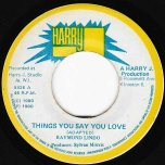 Things You Say You Love / Ver - Raymond Lindo
