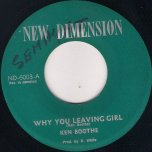 Why You Leaving Girl / Down on the Corner - Ken Boothe / In Crowd Band