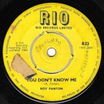 You Dont Know Me / Dr No - Roy Panton / King Edwards All Stars